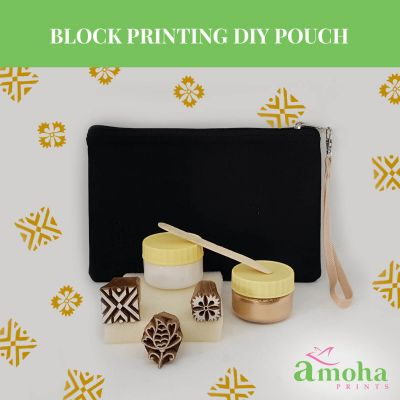 Block Printing DIY Pouch