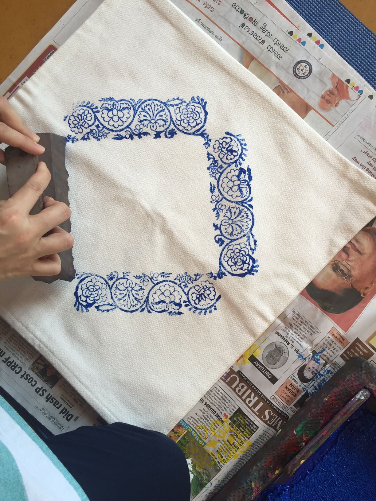 Introduction to Block Printing | Block Printing in Bangalore | Block Printing Workshops in Bangalore