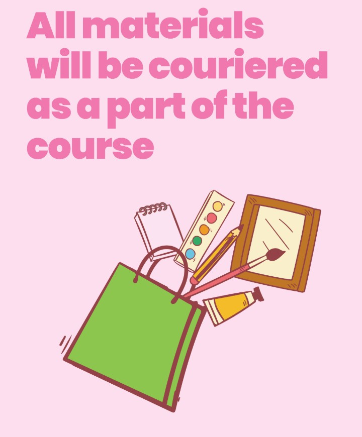 Art and Design Course Materials will be couriered as part of the course