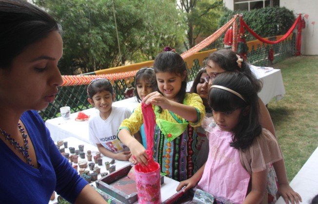 Block printing for birthdays, Block printing for naming ceremonies, Block printing workshops in Bangalore, Amoha Prints
