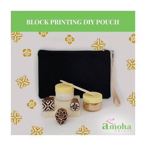 Block Printing DIY Pouch