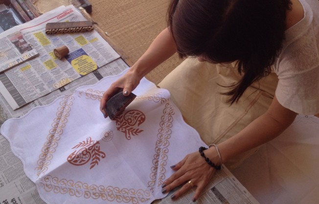 Block printing workshops in Bangalore, Amoha Prints